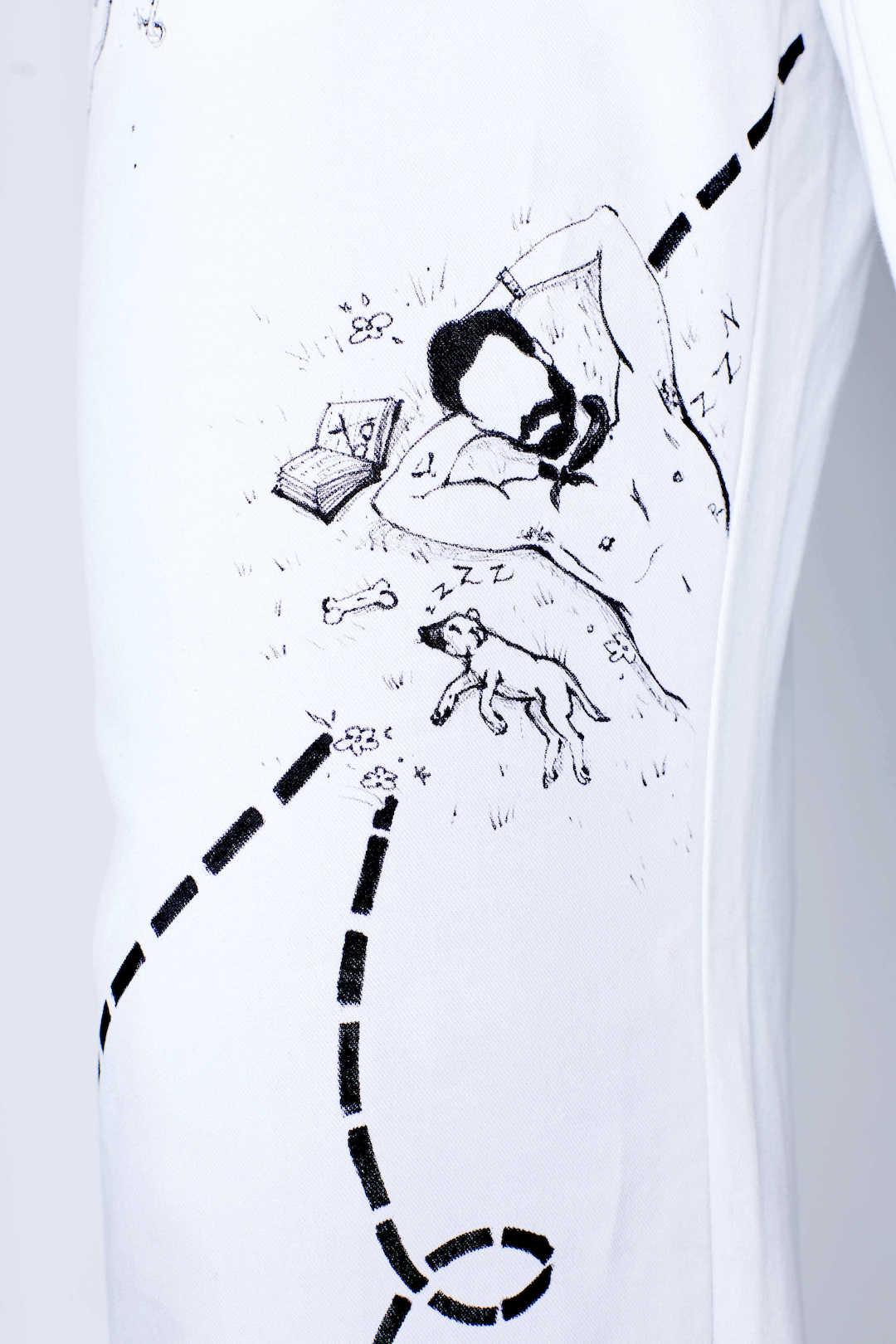 Detail view of Michael Portait Pant by Natasha Blodgett featuring Michael