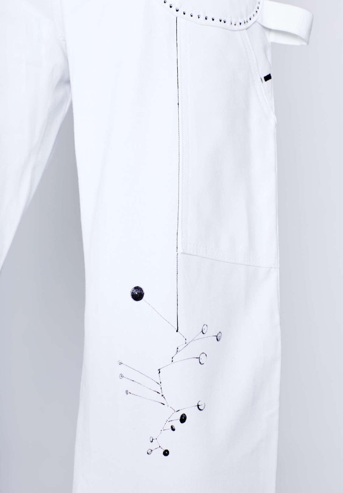 Detail view of Michael Portait Pant by Natasha Blodgett featuring Calder Mobile